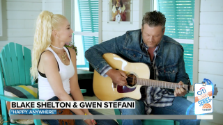 """Gwen Stefani and Blake Shelton perform their hit song """"Happy Anywhere"""" live on TODAY"""