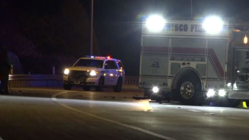 Two people died and three others were injured in a crash late Saturday night on the Dallas North Tollway in Frisco.