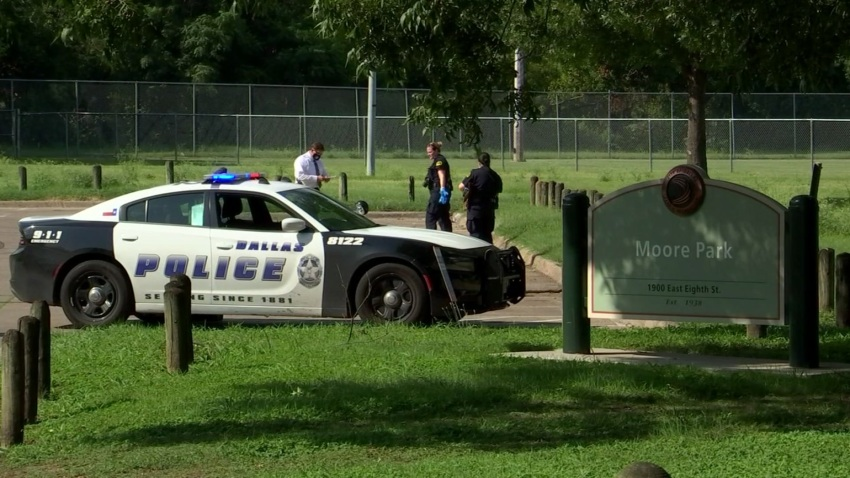 According to Dallas police, a man was found shot multiple times at Moore Park Monday afternoon.
