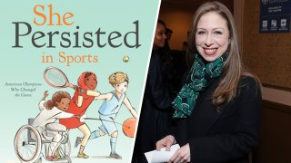 """Book cover for """"She Persisted in Sports"""" by Chelsea Clinton"""