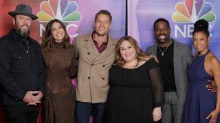 "NBC's ""This Is Us"" cast (l-r) Chris Sullivan, Mandy Moore, Justin Hartley, Chrissy Metz, Sterling K. Brown, Susan Kelechi Watson."