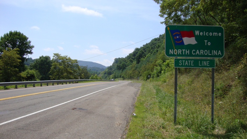 United States Highway 21 between Independence, Virginia and Sparta, North Carolina.