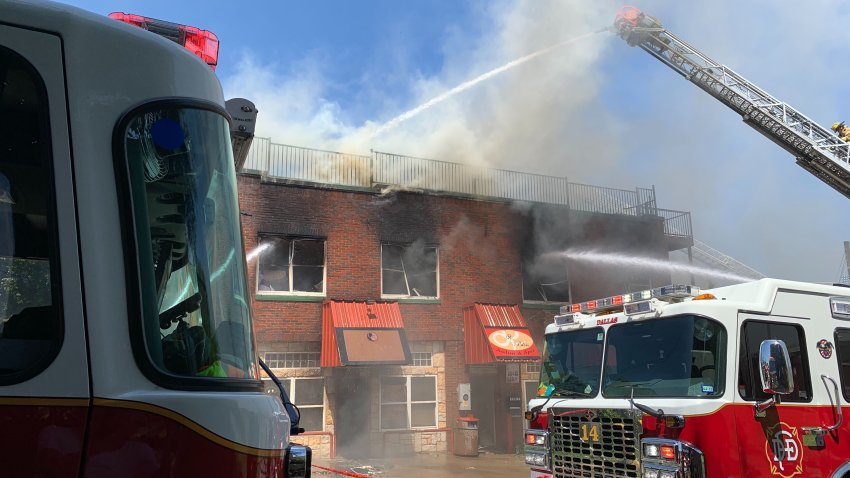 Dallas Fire-Rescue got a call shortly before 9 a.m. for a smoke odor in the area around the 400 block of North Beckley Avenue, near North Zang Boulevard, and found smoke coming from a two-story commercial building.