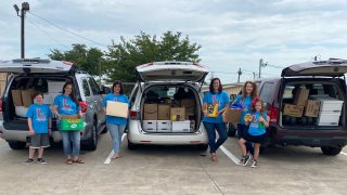 Families in Keller ISD rally to buy more than $5,000 in school supplies for students at Fort Worth elementary school.