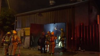 Dallas Fire-Rescue responded about 2:30 a.m. to the 2700 block of Main Street, where a smoker or grill was on fire.