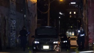 Officers were called about 8:30 p.m. to the shooting in the 2800 block of July Alley, behind a hostel. Alonte Demir Broadus-Hickem, 21, was found on the ground in the alley with multiple gunshot wounds, police said.
