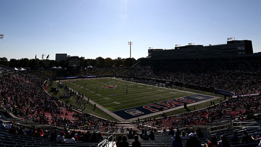 A general view of play between the East Carolina Pirates and the Southern Methodist Mustangs in the second half at Gerald J. Ford Stadium on Nov. 9, 2019 in Dallas, Texas.