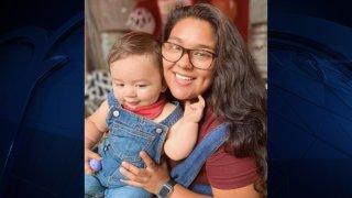 Baby Mateo Alejandro Montufar-Barrera and his mother.
