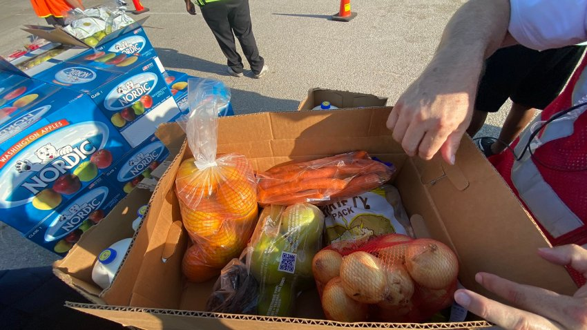 On Friday morning, the Tarrant Area Food Bank is hosting their Mega Mobile Market, distributing food to families in need.