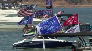 FILE PHOTO: Hundreds turned out to Lake Grapevine for a boat parade and rally in support of President Donald Trump on Saturday, Aug. 15, 2020.