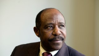 A file photo of Paul Rusesabagina from Jan. 28, 2016.