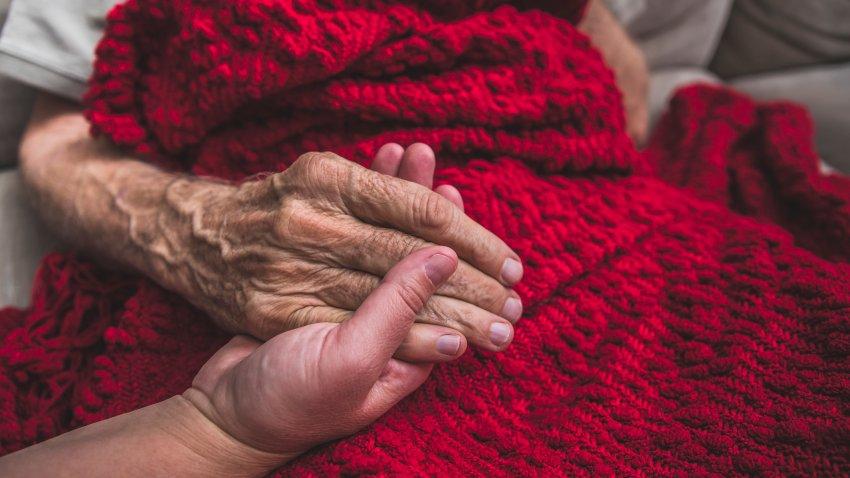 Nurse with an elderly patient
