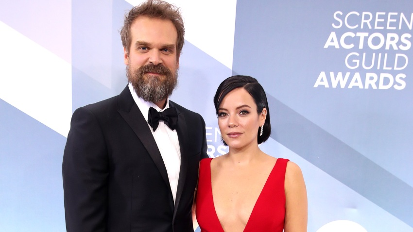 In this Jan. 19, 2020, file photo, David Harbour and Lily Allen attend the 26th Annual Screen ActorsGuild Awards at The Shrine Auditorium in Los Angeles, California.