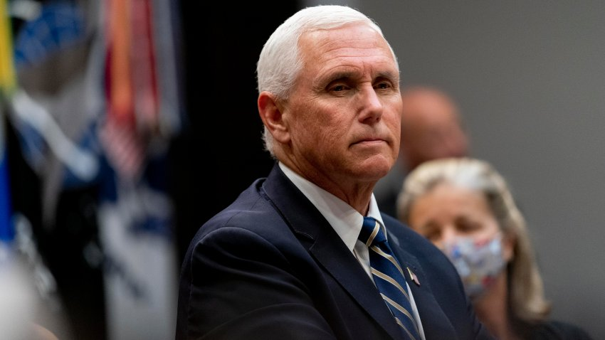Vice President Mike Pence appears at a meeting on safety and quality for nursing homes in the Roosevelt Room of the White House, Thursday, Sept. 17, 2020, in Washington.