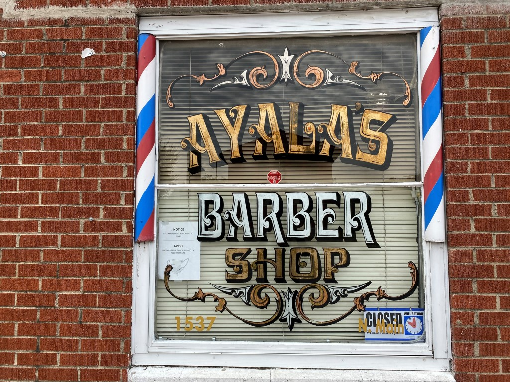 Louis Ayala opened his Ayala's Barber Shop on North Main Street in Fort Worth to reach of his goal of being a neighborhood barber.