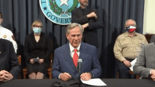 Gov. Abbott holds press conference to hear out small business owners and their employees.