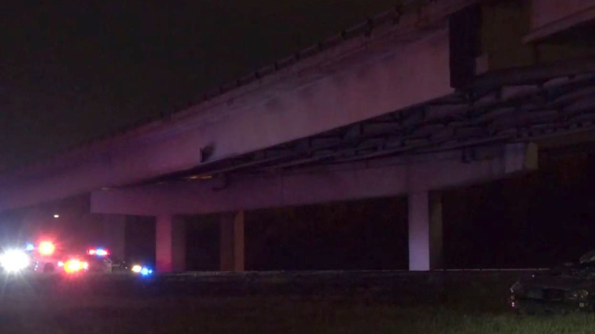 At about 10:30 p.m., the Dallas County Sheriff's Department, Mesquite police and Dallas Fire-Rescue responded to the crash at I-30 and the U.S. Highway 80 bridge.