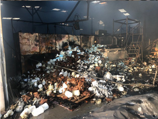 A North Texas school district asked for donations after a recent fire devastated its stock of personal protective equipment.