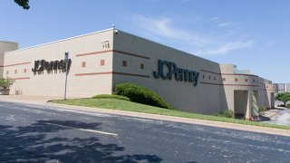 Photo taken on June 5, 2020 shows a closed J.C. Penny store in Music City Mall in Lewisville, Texas, the United States.