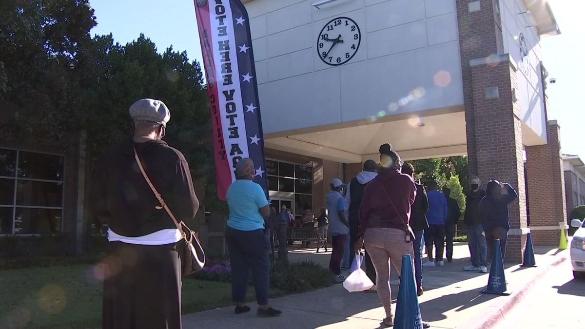 Dallas County Early Voting Turn Out Produces Long Lines, Breaks Record