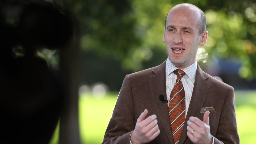 White House Policy Advisor To President Trump Stephen Miller Speaks With Fox At The White House