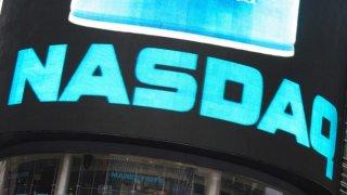 Economy USA: NASDAQ Building at Times Square New York City.
