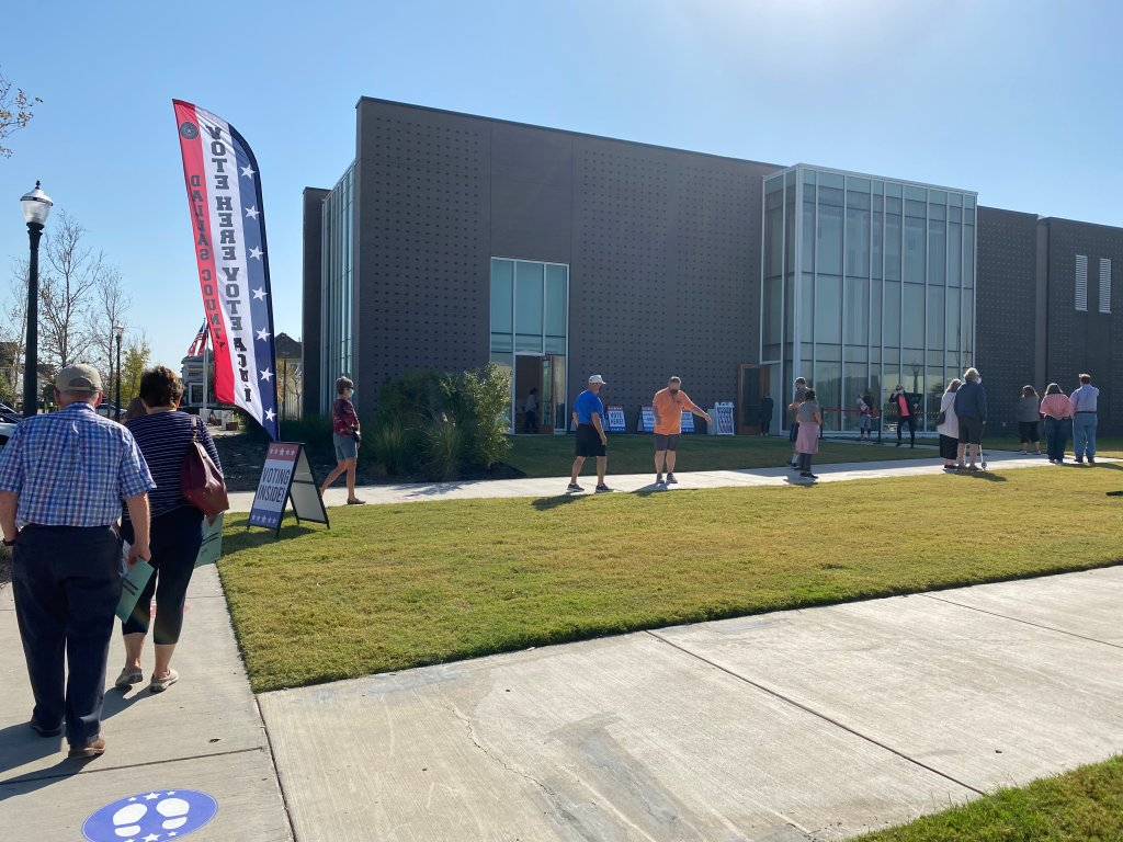 Voting at Coppell Arts Center