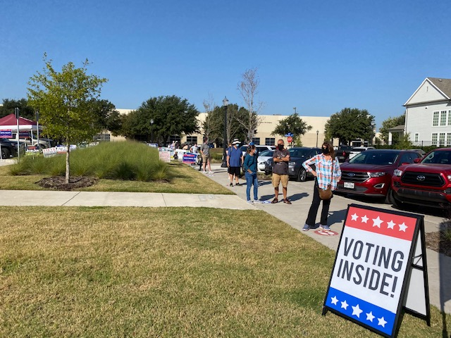Early voters at Coppell Arts Center