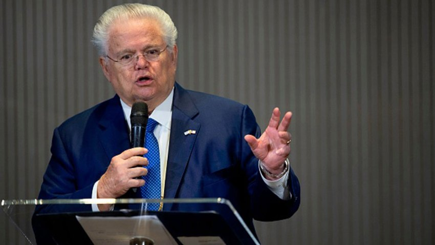 Pastor John Hagee, CUFI founder and Chairman, speaking at the (CUFI) Christians United for Israel's 2018 Washington Summit held at the Walter E. Washington Convention Center.
