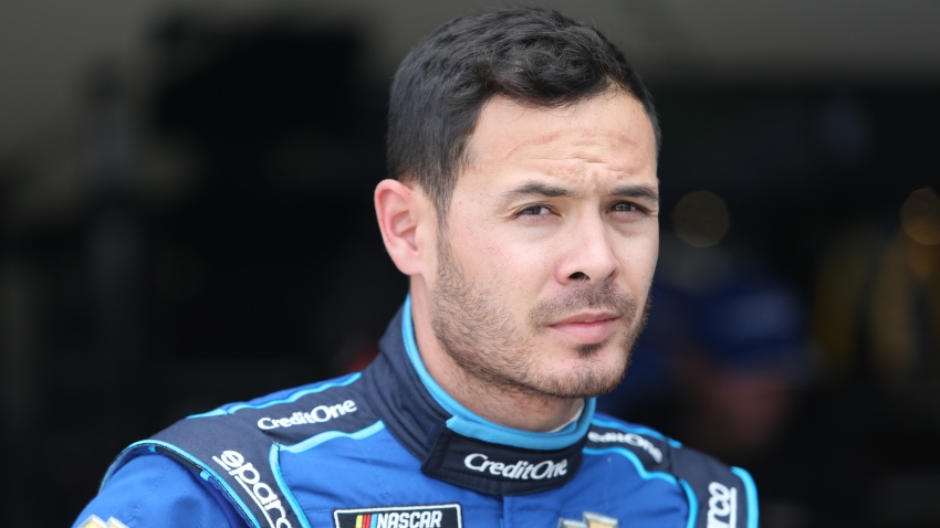 In this Feb. 15, 2020, file photo, Kyle Larson, driver of the #42 Chip Ganassi Racing Credit One Bank Chevrolet Camaro is seen during final practices for the Daytona 500 at Daytona International Speedway in Daytona Beach, Florida.