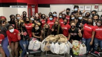 Cedar Hill Volleyball Team Serves Up Care Packages for Local Shelter