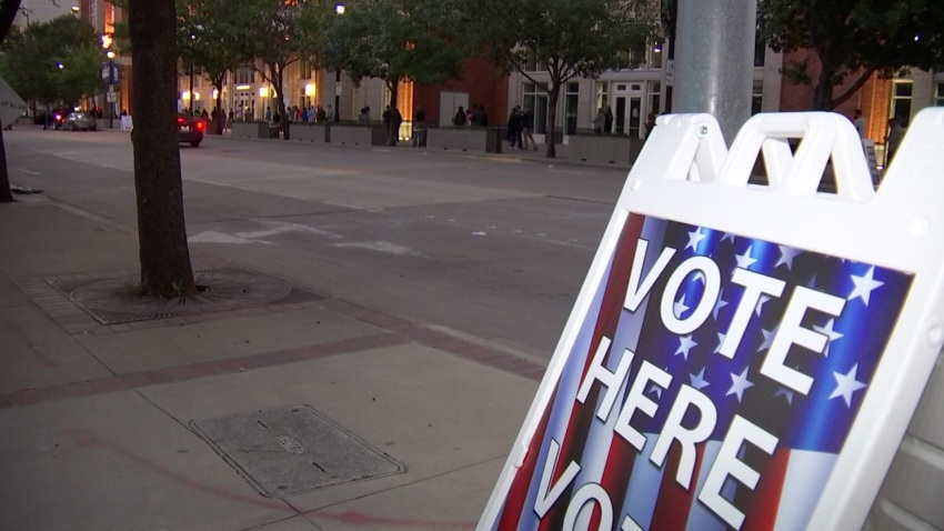 Voters expecting to cast their ballots on the first day of early voting were greeted by long lines in many places across North Texas, including the American Airlines Center in downtown Dallas.