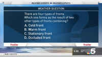 Weather Quiz: Four Types of Fronts