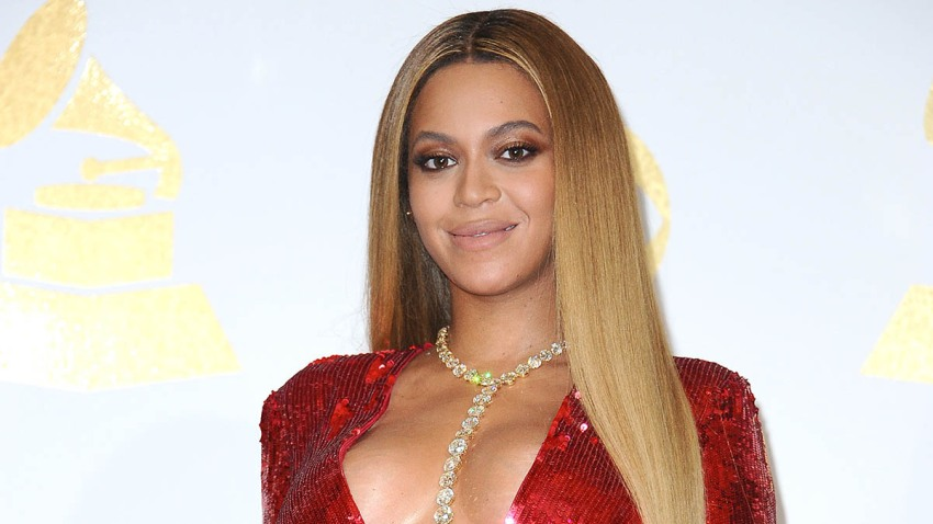 Beyonce poses in the press room at the 59th Grammy Awards at Staples Center, Feb. 12, 2017, in Los Angeles, California.