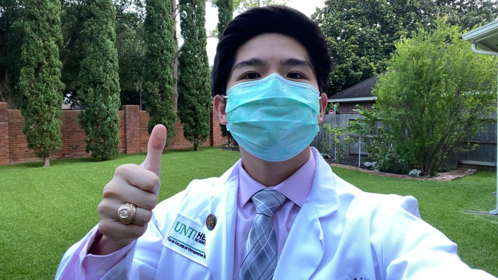 Kendrick Lim, a second year medical student at the Texas College of Osteopathic Medicine at UNT Health Science Center in Fort Worth