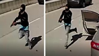 Dallas police investigators released images Thursday night that they say show the gunman in the freeway murder of Dallas rapper Mo3.