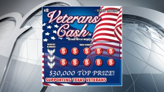 The Texas Lottery is introducing a new patriotic-themed scratch ticket game that benefits the state's veterans.