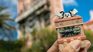 Hollywood Tower of Terror toy featuring Mickey Mouse.