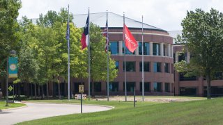 Photo taken on June 5, 2020 shows the headquarters of J.C. Penny in Plano, Texas, the United States. U.S. department store chain J.C. Penney on Thursday announced to close 154 stores. More stores are to be closed in the following weeks, said the Texas based company in a release. Last month, J.C. Penney filed bankruptcy protection due to the impact of COVID-19.