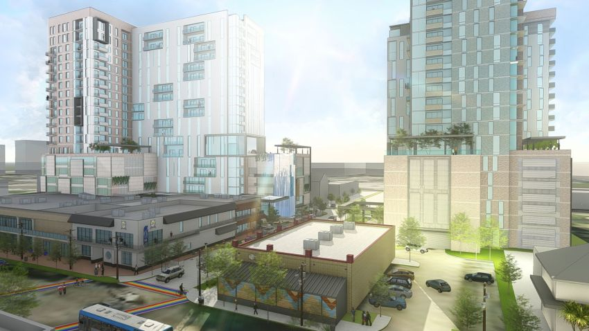 Two high-rises in the works at the Oak Lawn crossroads would preserve existing buildings.