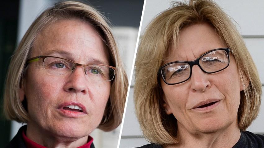 Republican Mariannette Miller-Meeks (left) and Democrat Rita Hart (right).
