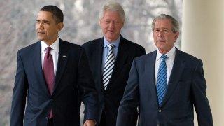 Barack Obama, Bill Clinton and George W. Bush