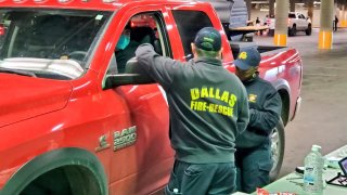 City of Dallas firefighters and paramedics have started receiving the COVID-19 vaccine.