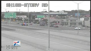 At about 3:45 a.m., Irving police and fire crews were working a five-vehicle accident on SH183 near Story Road that had shut down the highway when a wrong-way driver struck an Irving firefighter.