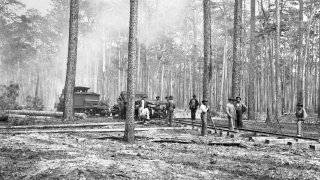 Workers Laying Track