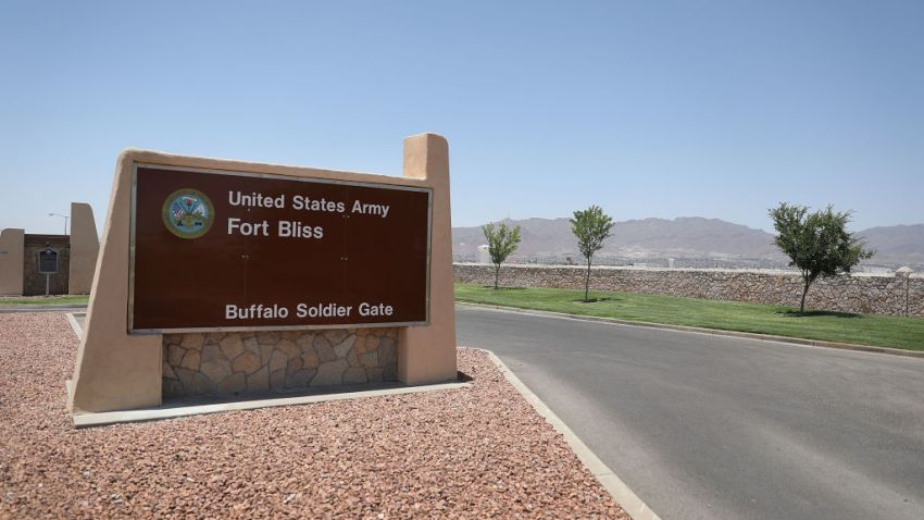An entrance to Fort Bliss is shown as reports indicate the military will begin to construct temporary housing for migrants on June 25, 2018 in Fort Bliss, Texas. The reports say that the Trump administration will use Fort Bliss and Goodfellow Air Force Base to house detained migrants as they are processed through the legal system.