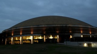 A general view of Ferrell Center before a game between the Texas Tech Red Raiders and the Baylor Bears on March 2, 2020 in Waco, Texas.