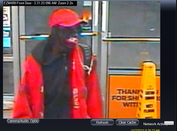 Arlington police released photos from surveillance footage at EZ Mart in the 100 block of East Bardin Road that a man enter the store around 3:30 a.m. on Jan. 17, 2021, shoot the clerk and rob the store.