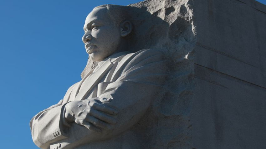 Wreath laying ceremony held at the Martin Luther King Jr. Memorial on the National Mall during MLK Day January 20, 2020 in Washington, D.C.