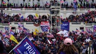 WASHINGTON, DC - JANUARY 6: Scene outside the Capitol after Tru